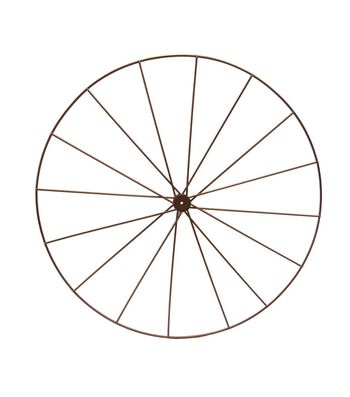 Blooming Autumn Metal Wheel Frame-Copper