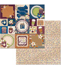 BoBunny Stay Awhile 25 pk 12\u0027\u0027x12\u0027\u0027 Double-Sided Cardstock-Warm