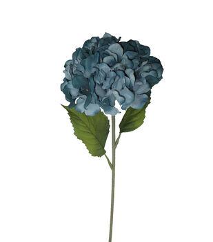 Blooming Autumn 27'' Hydrangea Stem-Blue