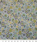 Quilter\u0027s Showcase Cotton Fabric-Folk Floral White Yellow