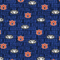 Auburn University Tigers Cotton Fabric -Distressed