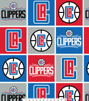 Los Angeles Clippers Fleece Fabric -Block, , hi-res