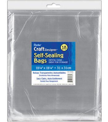 "Self-Sealing Transparent Bags-12-1/4""X12-1/4"" 18/Pkg"
