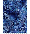Snuggle Tie-Dye Flannel Fabric 42\u0027\u0027-Blue Tile