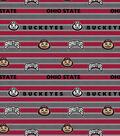 Ohio State University Buckeyes Cotton Fabric -Polo Stripe