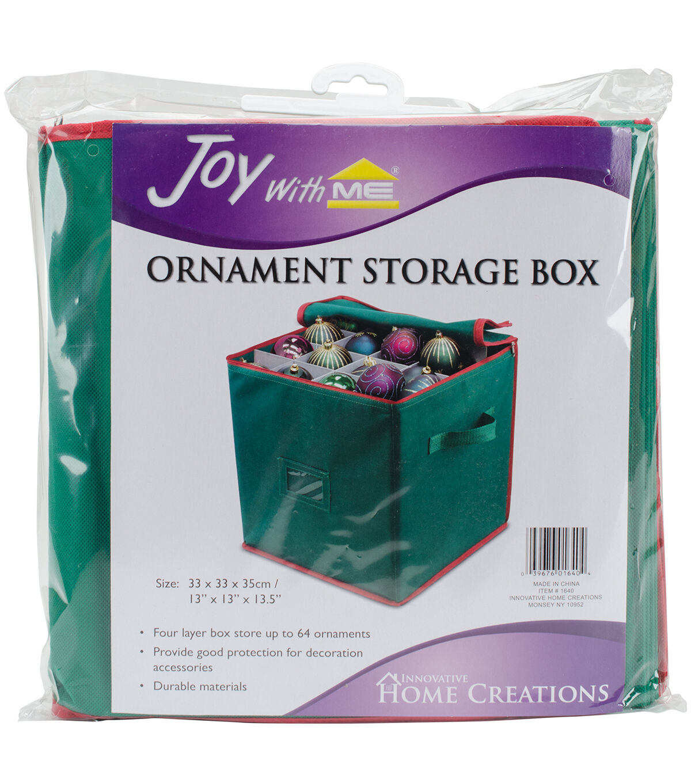 Innovative Home Creations 13.5u0027u0027x13u0027u0027x13u0027u0027 Ornament Storage Box