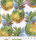 Anti-Pill Plush Fleece Fabric-Watercolor Pineapples