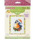 RIOLIS Happy Bee 5\u0027\u0027x6.25\u0027\u0027 Counted Cross Stitch Kit-Bullfinch