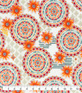 Snuggle Flannel Fabric-Bright Watercolor Medallions