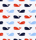Nursery Cotton Fabric -Nautical Whales