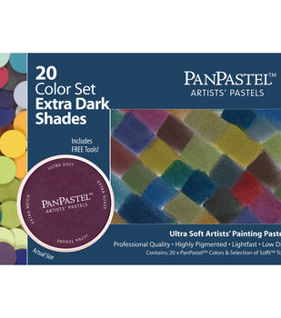 PanPastel Ultra Soft Artists' Pastels Set-Extra Dark Shades