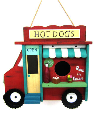Hello Spring Gardening Wood Birdhouse-Hot Dogs Stand