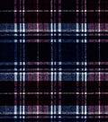Snuggle Flannel Fabric-Wine Blue Distressed Plaid
