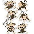 Monkeys 6in Designer Cut Outs 36/pk, Set of 4 Packs
