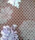 Simply Silky Prints-  Flower Black Teal Clip Dot Chiffon