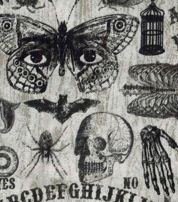 Halloween Cotton Fabric -Ouija Board