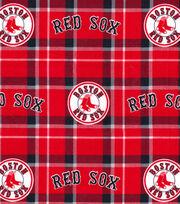 Boston Red Sox Flannel Fabric-Plaid, , hi-res
