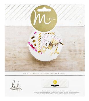 """Heidi Swapp Minc Paper 6""""X6""""-Signature 12/Pkg"""