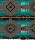 Anti Pill Fleece Fabric -Turquoise Moondance