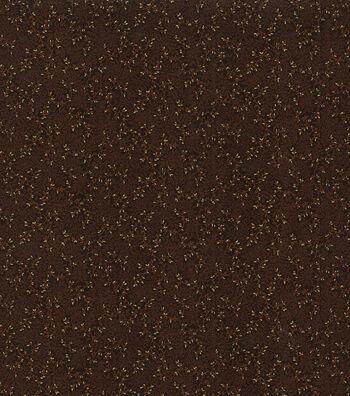 "Harvest Cotton Fabric 43""-Brown Glitter Vines"