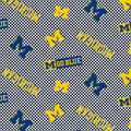 University of Michigan Wolverines Cotton Fabric -Tossed