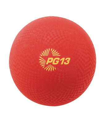 """Playground Ball, 13"""", Red"""