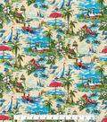 Novelty Cotton Fabric -Coastal Beach