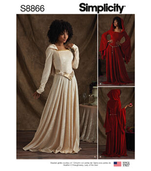 Simplicity Pattern S8866 Misses' & Miss Petite Costumes-Size H5 (6-14)