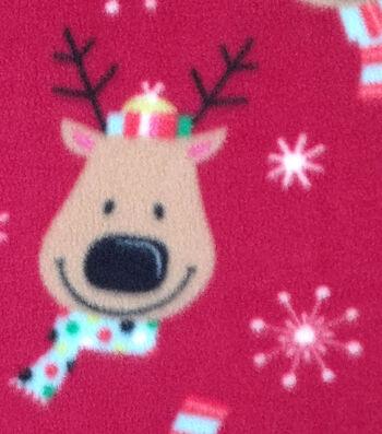"""Anti-Pill Fleece Fabric 59""""-Reindeer Face"""