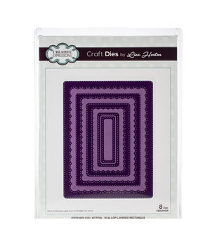 Creative Expressions Stitched Craft Dies Lisa Horton-Scallop Rectangle