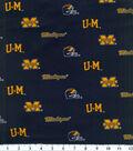 University of Michigan Wolverines Cotton Fabric -Herringbone