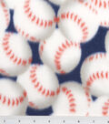 Blizzard Fleece Fabric -Packed Baseballs