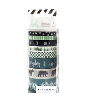 Heidi Swapp Wolf Pack Washi Tape Rolls-Pack of 8, , hi-res