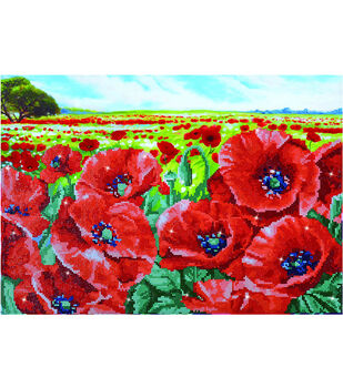 Diamond Dotz Diamond Embroidery Facet Art Kit 26.75''X19.75''-Red Poppy