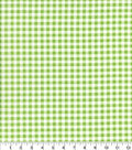 Keepsake Calico Cotton Fabric-Check Lime
