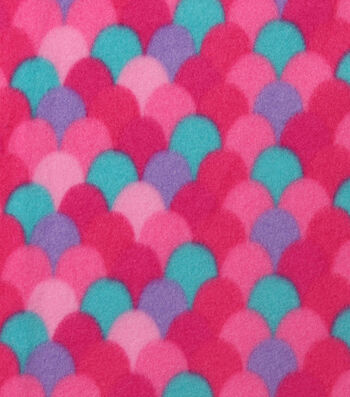 Blizzard Print Fleece Fabric 59''-Pink Mermaid Scales