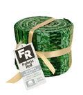 Jelly Roll Cotton Fabric Pack 2.5\u0027\u0027x42\u0027\u0027-Green & Metallic
