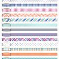 Park Lane Washi Tape Tube 13/Pkg-Plaid, Dots & Stripes