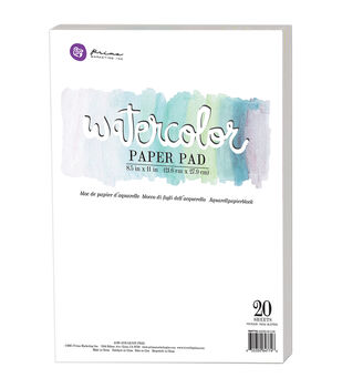 Prima Marketing 20ct 8.5''x11'' Watercolor Cold Press Paper Pad