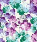 Premium Quilt Cotton Fabric -Translucent Floral Light Pearl
