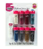 Tulip Fashion Glitter Kit .25oz 9/Pkg-Multicolor, , hi-res