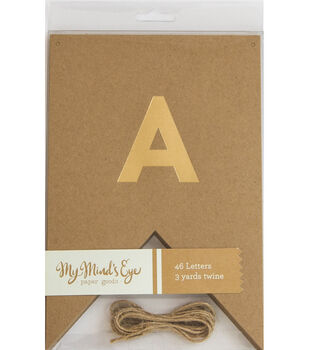 My Minds Eye Paper Goods Kraft Letter Banner