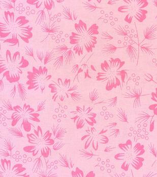 Roc-lon Garden Bouquet Muslin 10 yds-Pink Carnation
