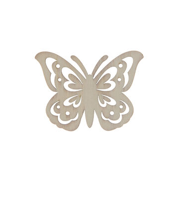 Simply Spring 3.7''x2.6'' Unfinished Wood Butterfly