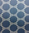 Azure Collection- Jacquard Dot Navy & Ivory Fabric