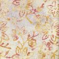 Wide Batik Cotton Fabric-Flowers on Ivory