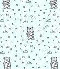 Nursery Cotton Fabric-Wild Bear on Mint