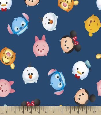 Disney Mickey & Friend Print Fabric-Tsum Tsum