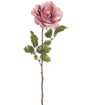 Bloom Room 24'' Velvet Rose Stem-Pink