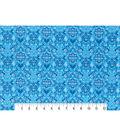 Modern Premium Cotton Print Fabric 43\u0027\u0027-Blue Scrolling Medallions